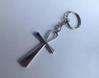 Ankh Keychain, Silver Ankh Keychain