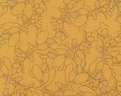 1/2 yard Botanics Robert Kaufman AFRM-14258-291  CURRY no. 251