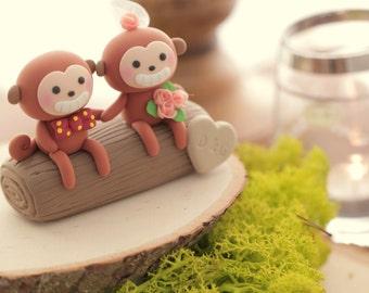 monkey wedding cake topper---k757