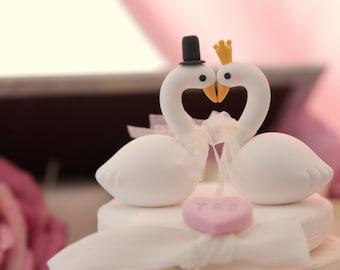 love Swan wedding cake topper  (K358)