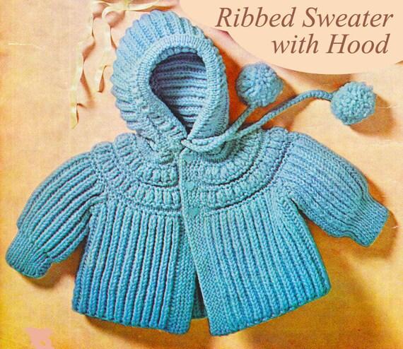 Baby Knitting Pattern Baby Sweater Knitting Pattern with
