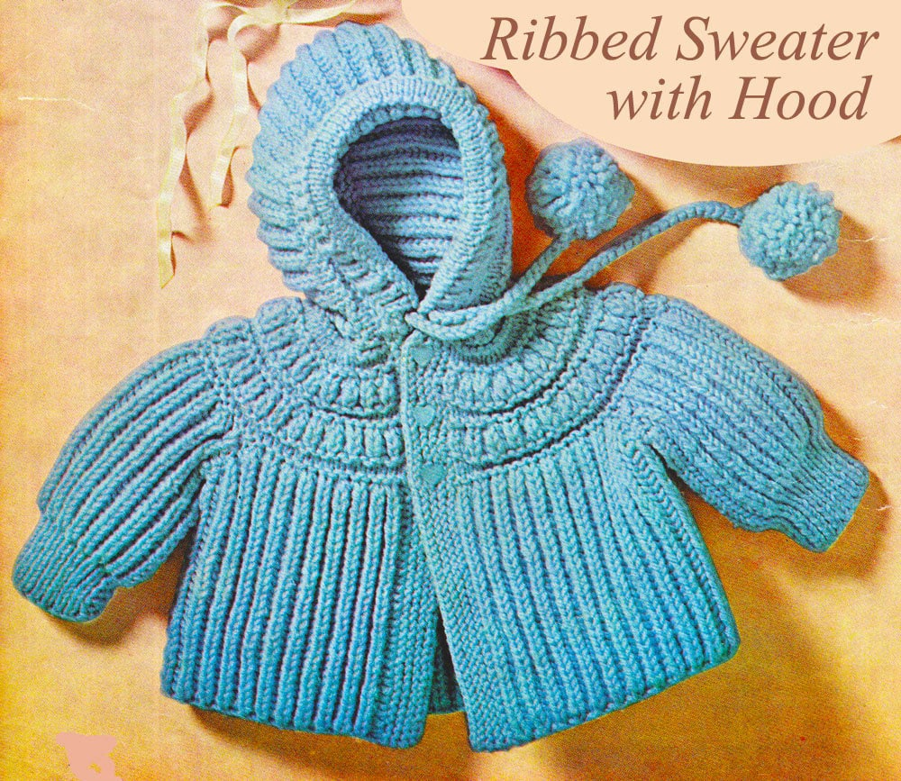 Baby Knitting Pattern Baby Sweater Knitting Pattern with