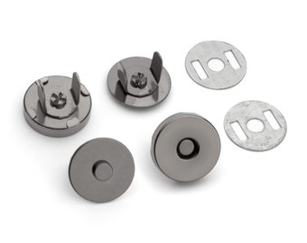 50 Sets Magnetic Purse Snaps - Closures 14mm Black Nickel - Free Shipping (MAGNET SNAP MAG-114)