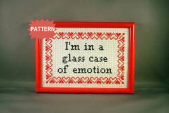 PDF/JPEG I'm in a glass case of emotion - Anchorman (Pattern)