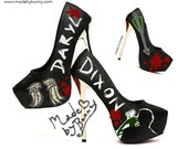 DARYL DIXON | Walking Dead | Design for HEELS or Wedges | hand painted