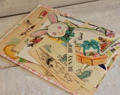 Easter Bunny Rabbit, ephemera, scrapbooking, VINTAGE PAPER PACK