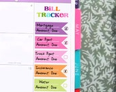 Rainbow Flag Bill Tracker Sticker Printable - Instant Download - to fit your Erin Condren MonthlyBoxes
