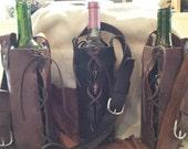 Wine Tote Single Bottle Genuine Leather