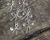 friendship symbol sterling silver charms/pendants for Julie