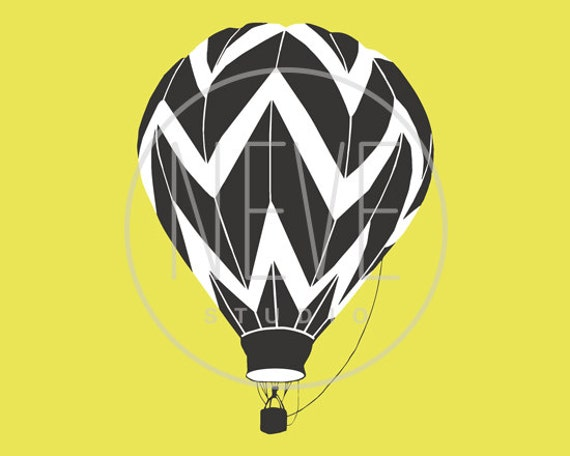 Hot Air Balloon Print 5 x 7 - available in different sizes and colors