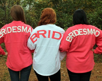 Bridesmaid Spirit Jersey with or without monogram