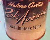 Vintage Helene Curtis Park Avenue Machineless Wave Tin