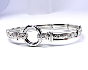 Made-To-Order Pure Elegance No 2 Sterling Silver Slave Bracelet OR Anklet