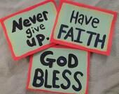 Set of three inspirational cards.