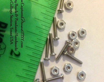 10 sets of  3/8 inch Micro Stainless Steel Screws and Nuts