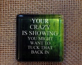 Your crazy is showing.... glass magnet