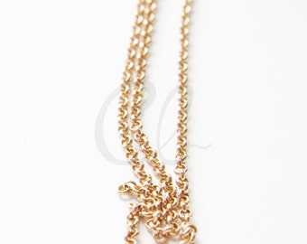 6 Feet RAW Brass Chains-Rolo 3mm (420C)