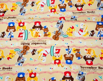 Push Pin Collection November book  Music Parade Theme Half meter 50 cm by 106 cm or 19.6 by 42 inches
