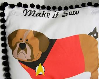 SALE DIY Pillow Panel - Make it Sew - Dog