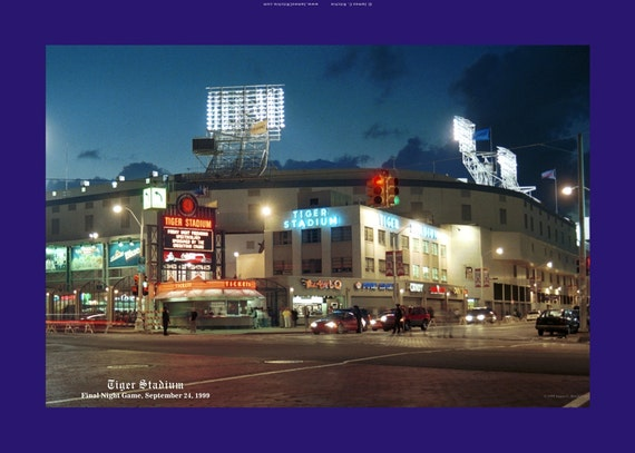 Man Cave Store Michigan City : Tiger stadium final night game detroit canvas gallery wrap
