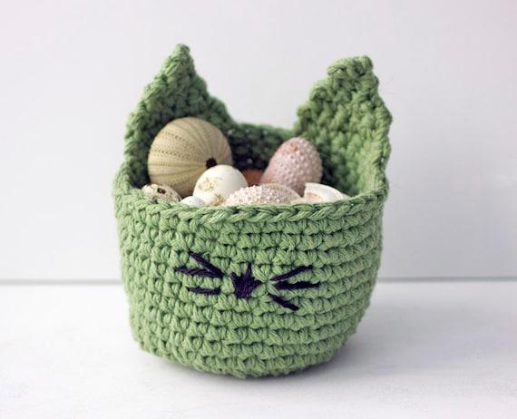 Kitty Easter Basket Crochet Pattern Cat Basket PDF Pattern