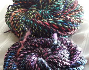Stained Glass Windows handspun yarn mini-skeins, 46 and 20 yards