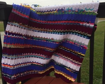 Signature Ranch Throw in Iris & Mulberry - Crocheted blanket