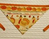 Happy Thanksgiving Dog Bandana Tie Style Sizes S to XL
