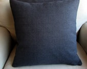 CHARCOAL decorative designer pillow cover 18x18 20x20 22x22 24x24 26x26