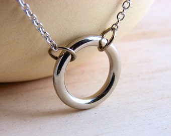 Circle Choker Necklace Hardware Jewelry Industrial Small Hardware Circle
