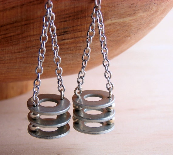 Chandelier Dangle Earrings Long Hardware Jewelry Industrial Eco Friendly Earrings