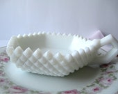 Vintage Westmoreland English Hobnail Milk Glass Bon Bon Dish