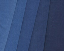 Navy Blue Ombre Print 100% Cotton Quilting Fabric