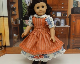 Heritage Court - Victorian dress and aprong for American Girl doll with undergarments
