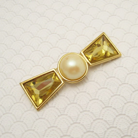 large bow brooch vintage richelieu jewelry p6126