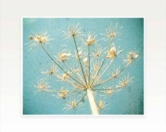 Nature Photography, Flower Art, Pastel Decor, Sky Blue and Gold, Bedroom Art, Autumn Home Decor - Umbrella