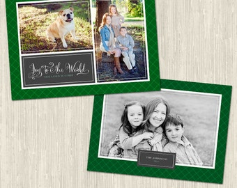 Winter Elegance Holiday Photo Card | Photoshop Templates | Great for Photographers or Scrapbookers | Instant Download | CS6027b