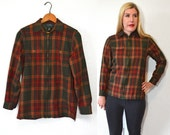 Reserved for Nina 20 DOLLAR SUPER SALE! Green Plaid Jacket - Green Plaid Shirt Women - Womens Green Jacket
