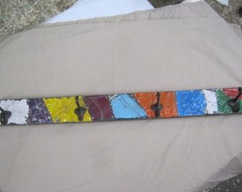 """4 Hook Tin Ceiling Coat Hook Hat Keys Jewelry Hanger 32"""" S2197-14"""