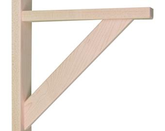 Wood Shelf Bracket- Maple Straight 10