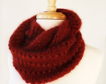 Infinity Scarf Knitting Pattern- Genevieve Cowl / Snood / Scarf - Circle Scarf PDF Knitting PATTERN