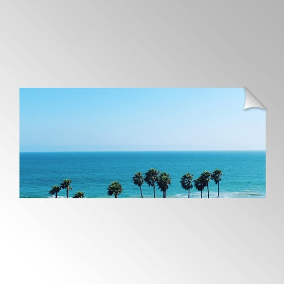 Huntington Beach Wall Decor : Items similar to removable wall decal mural palm