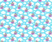 Magic castles euro organic knit 1/2 yard knit cotton lycra dots lycra spandex pre-order