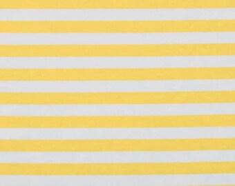 Yellow stripes Knit fabric 1 yard
