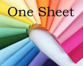 One Sheet, 8 x 12 Inch,  Wool Felt Fabric, Merino Wool Felt, Single Sheet, Sampler Sheet, Choose Any Color