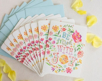 Be Filled With Joy Notecard Set | Greeting Cards | Stationery