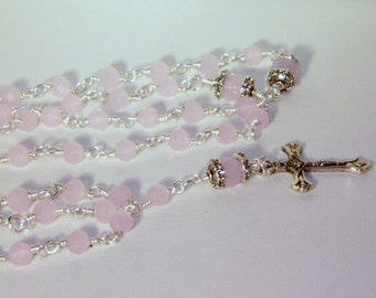 Baby Girl Confirmation Rosary - Made to Order - Choice of Colors - SHIPS WITHIN 24 Hrs