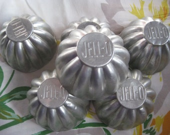 Vintage Jell-O Aluminum Molds Set of Six