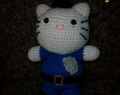 Police Hello Kitty Crochet Doll