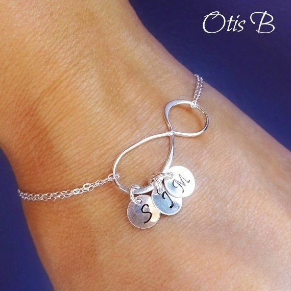 personalized infinity bracelet with initials friendship